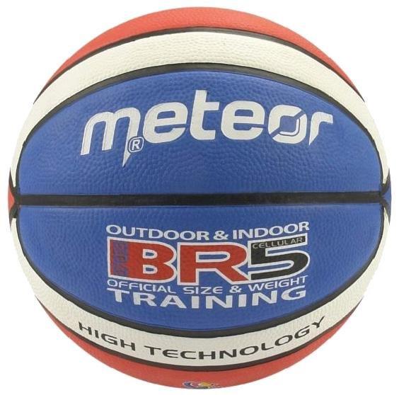 Různobarevný basketbalový míč BR5, Meteor - velikost 5