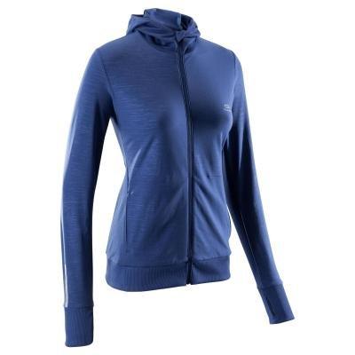 Modrá běžecká bunda Warm, Kalenji