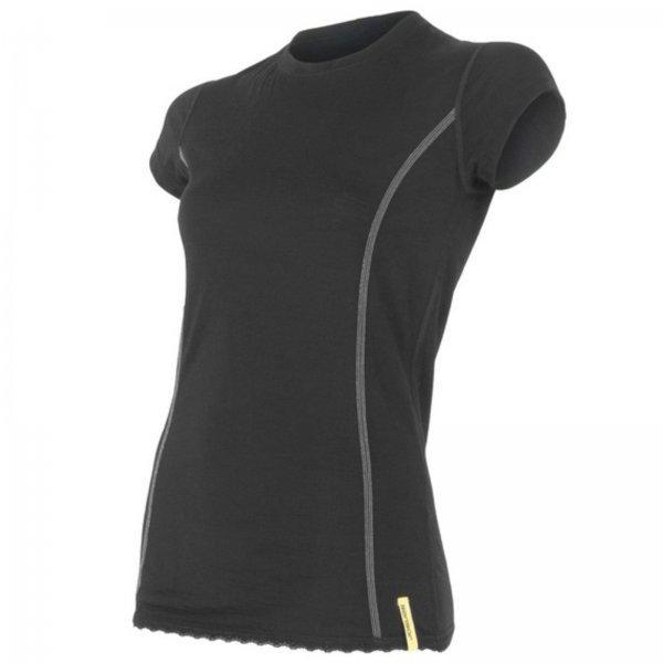 Černé dámské funkční tričko s krátkým rukávem Sensor - velikost XL