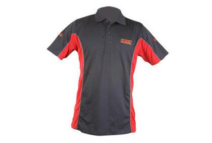 Černo-červené pánské rybářské tričko Match Cool Max, Fox International