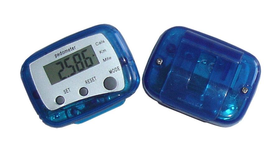 Modrý digitální krokoměr Acra