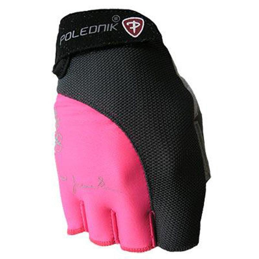 Černo-růžové dámské fitness rukavice Polednik