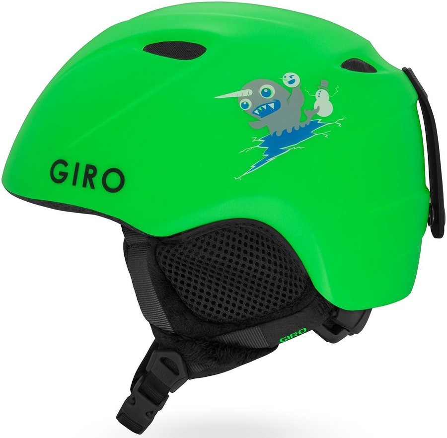 Zelená chlapecká lyžařská helma Giro