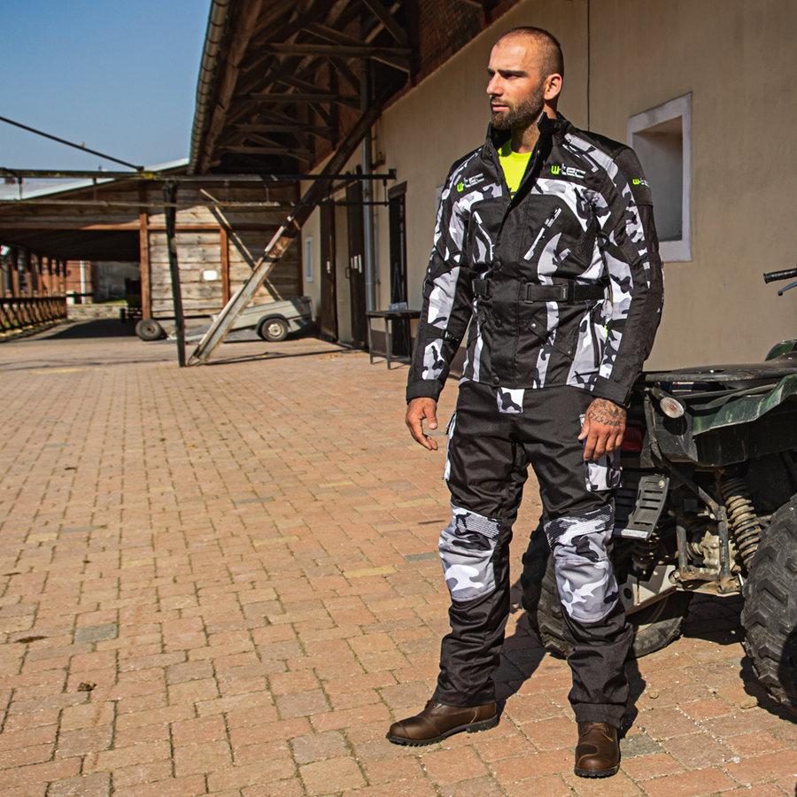 Černé pánské motorkářské kalhoty Kaamuf, W-TEC - velikost XXL