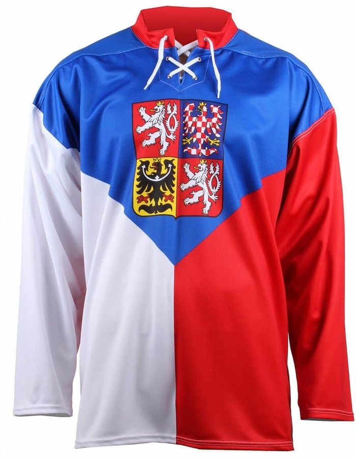 Bílo-červený hokejový dres Merco
