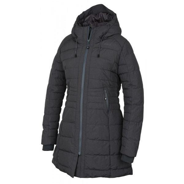 Šedý zimní dámský kabát Husky
