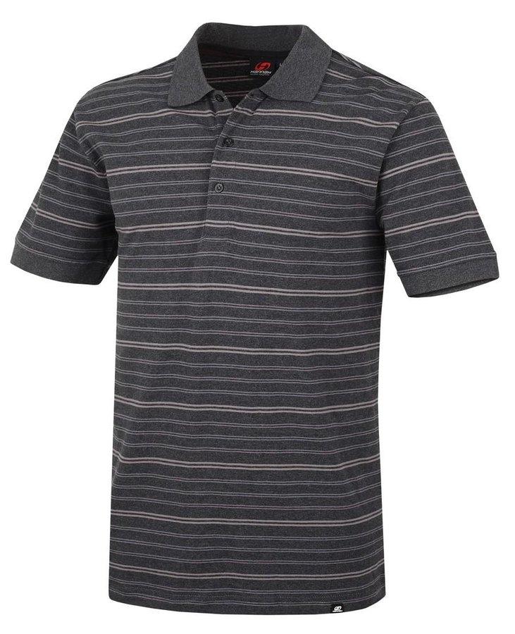 Šedé pánské tričko s krátkým rukávem Hannah - velikost L