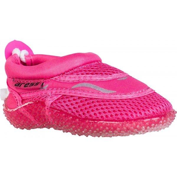 Růžové dívčí boty do vody Aress