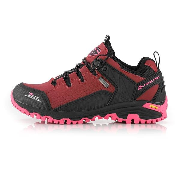 Růžové nepromokavé trekové boty Alpine Pro