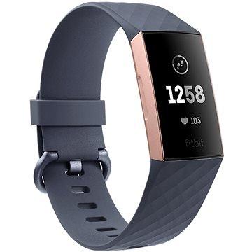 Modrý fitness náramek Charge 3, Fitbit