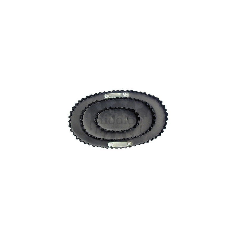 Černé kovové hřbílko