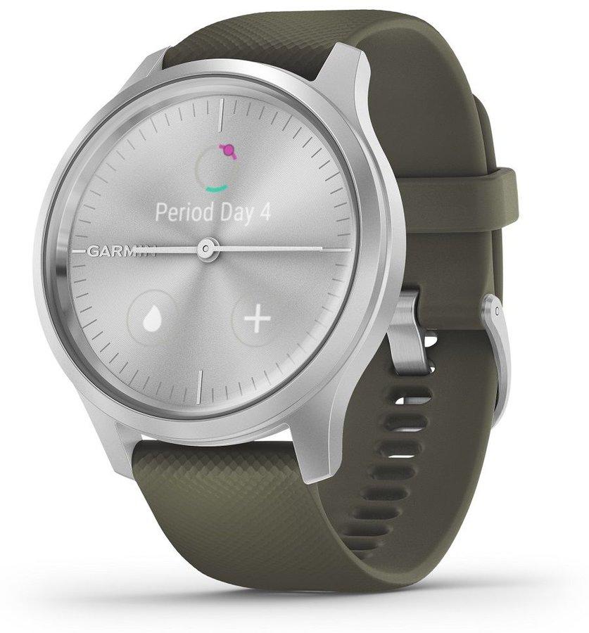 Zelené analogové chytré hodinky vivomove Style, Garmin