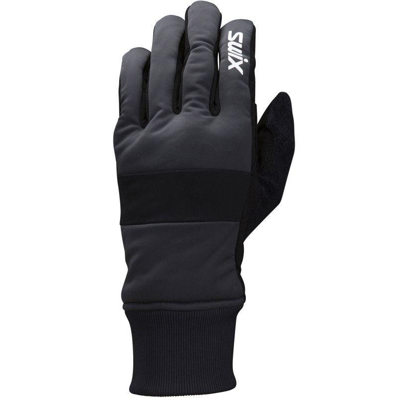 Černé rukavice na běžky Swix
