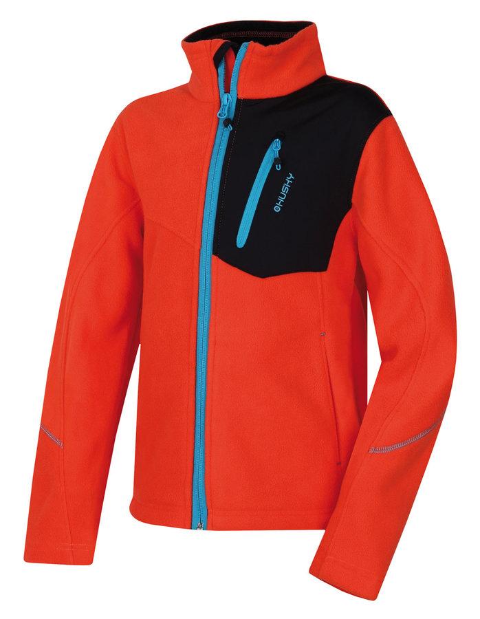 Oranžová fleecová dívčí mikina Husky - velikost 152