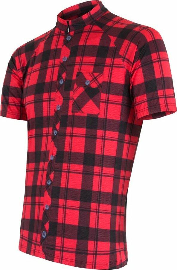 Červený pánský cyklistický dres Sensor - velikost XXL