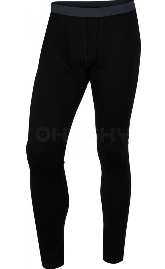 Černé pánské funkční kalhoty Husky