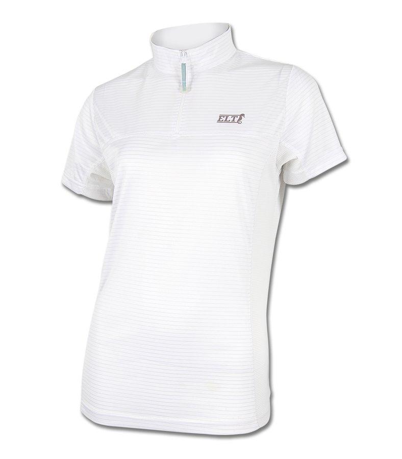 Bílé dámské jezdecké tričko X-STATIC, ELT - velikost L