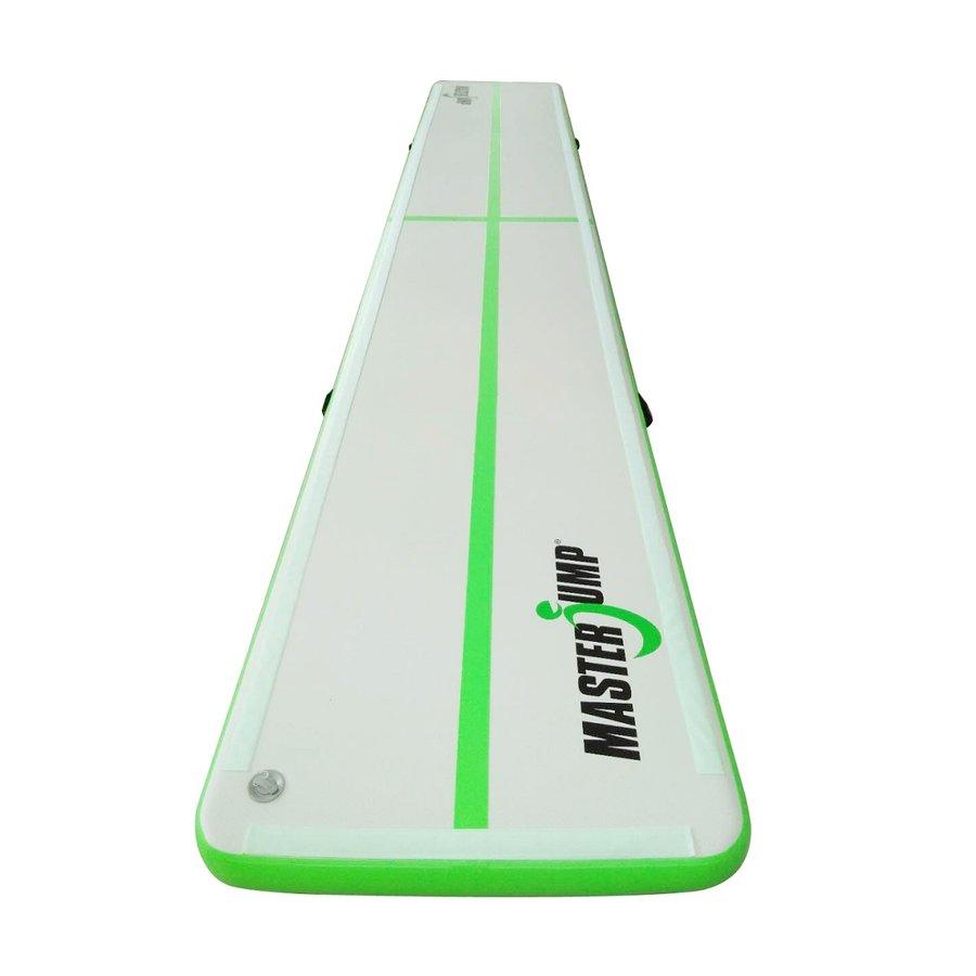 Zelený airtrack Masterjump - délka 600 cm a šířka 100 cm