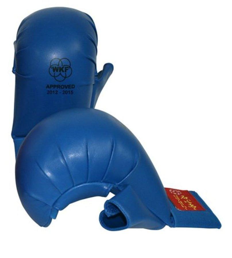 Karate rukavice - Hayashi karate chrániče WKF - Tsuki - modrá - modrá - velikost M