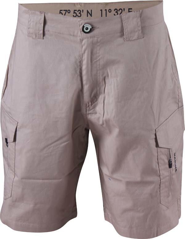 Kraťasy - MARINE - pánské kr.kalhoty (bavlněný twill) - pískové