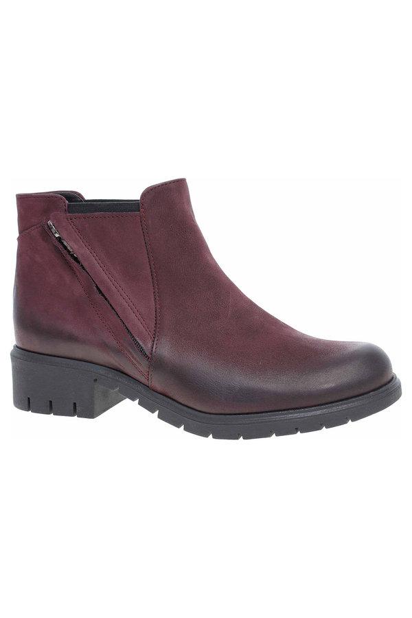 Červené dámské zimní boty Hujo