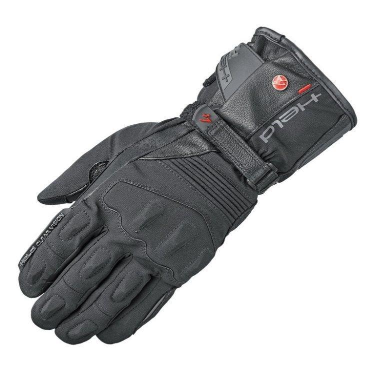 Rukavice na motorku - Held dámské moto rukavice SATU 2v1 GORE-TEX černá, kůže/textil