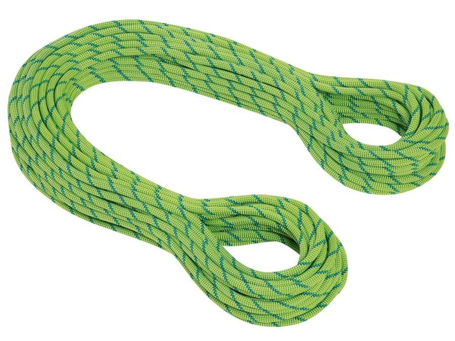 Zelené horolezecké lano Twilight Dry, Mammut - průměr 7,5 mm a délka 60 m