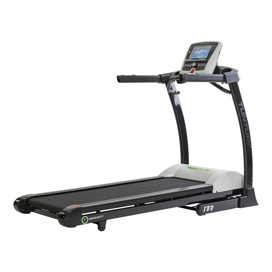 Běžecký pás T80 Treadmill Endurance, Tunturi - nosnost 150 kg