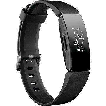 Černý fitness náramek Inspire HR, Fitbit