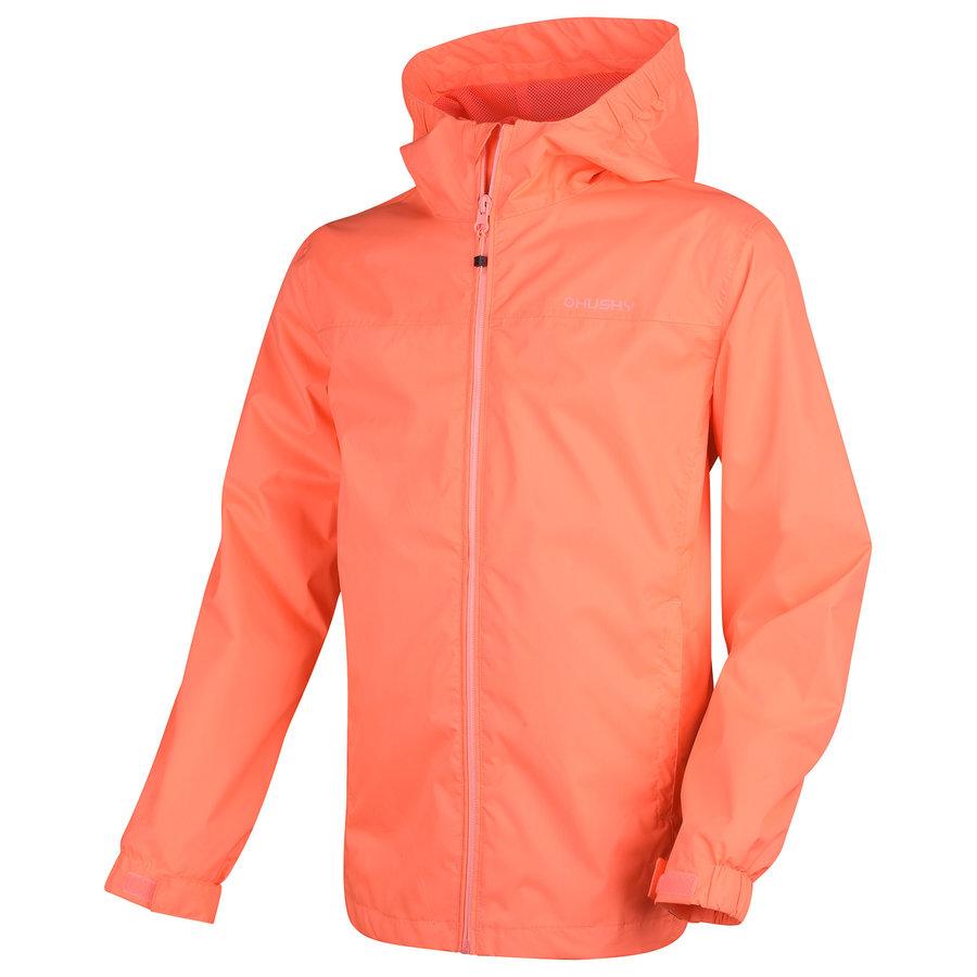Růžová dívčí turistická bunda Husky - velikost 140