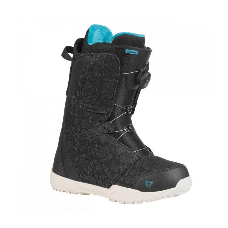 Černé boty na snowboard Gravity