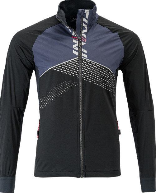 Černo-modrá softshellová pánská bunda na běžky Silvini
