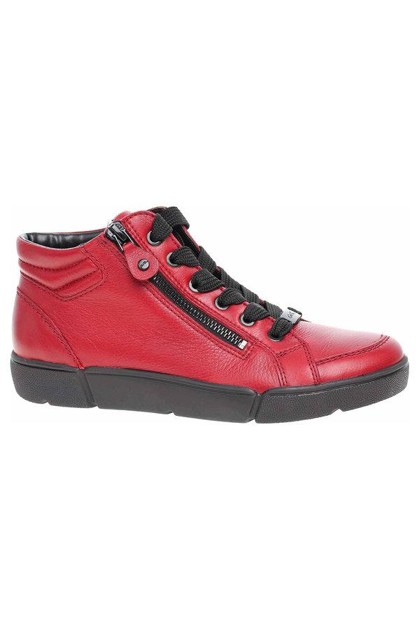 Červené dámské kotníkové boty Ara