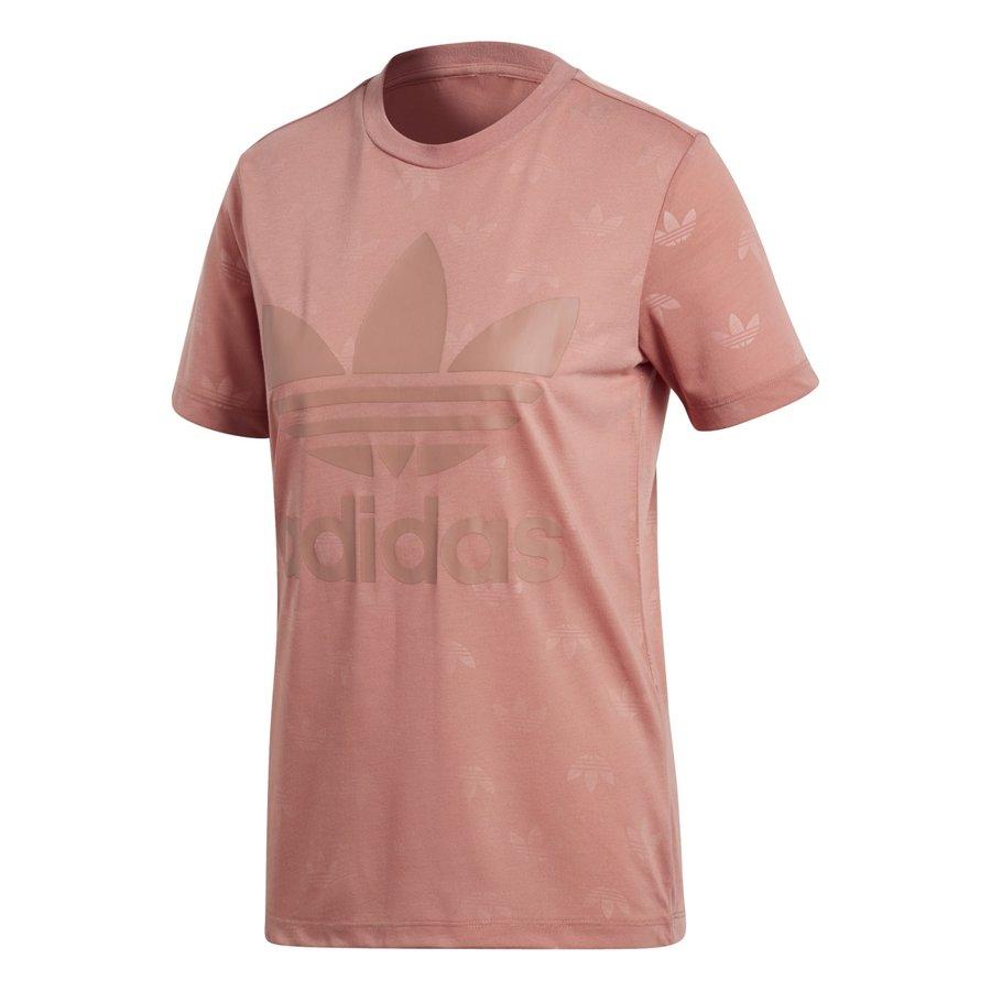 Růžové dámské tričko s krátkým rukávem Adidas - velikost 36