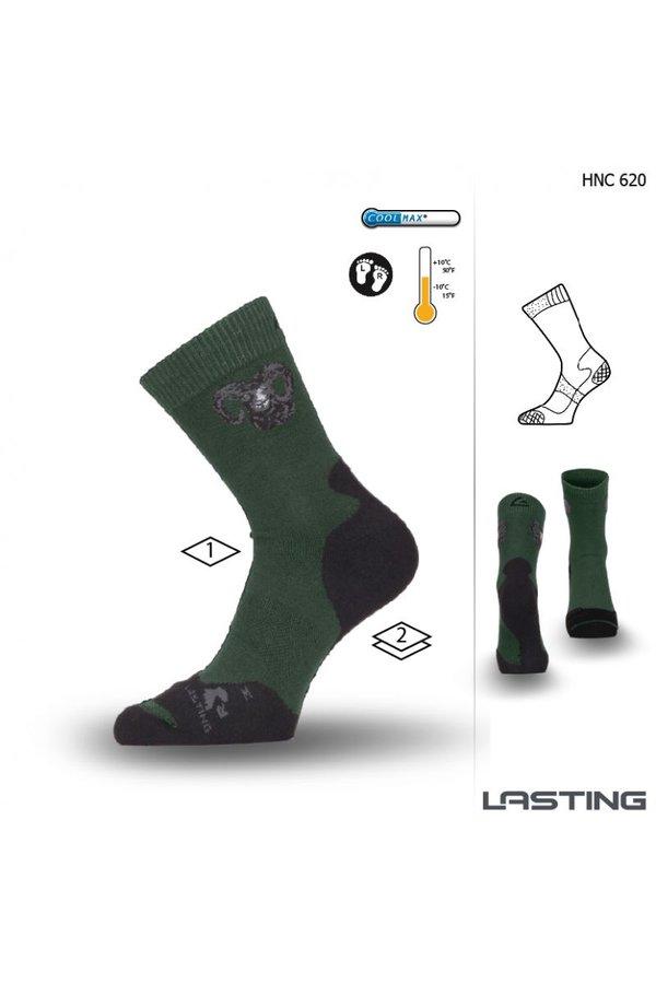 Černo-zelené pánské trekové ponožky Lasting