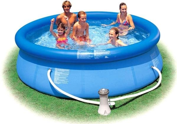 Nafukovací nadzemní kruhový bazén INTEX - průměr 457 cm a výška 84 cm