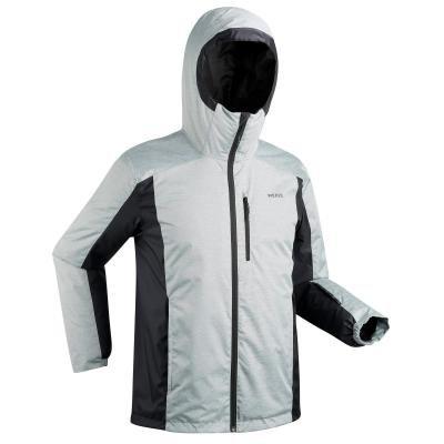 Černo-šedá pánská lyžařská bunda Wed'ze