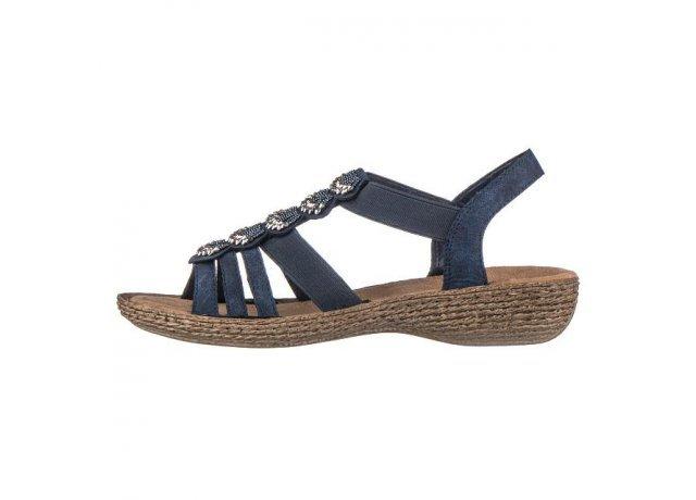 Modré sandály RIEKER