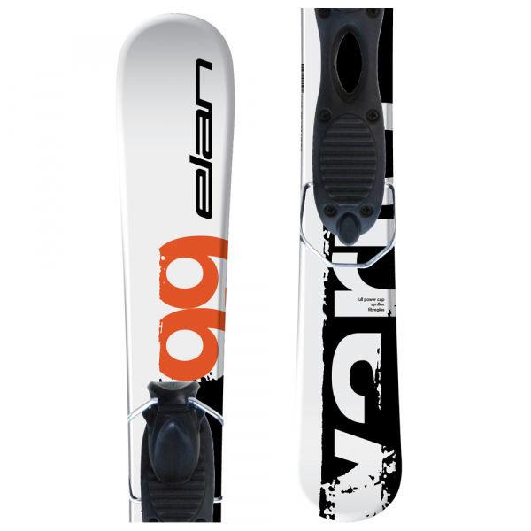 Bílo-černé lyže s vázáním Elan - délka 99 cm