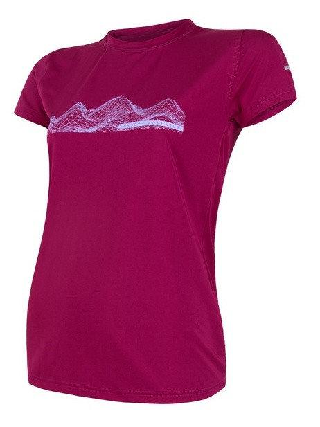 Fialové dámské funkční tričko s krátkým rukávem Sensor - velikost M