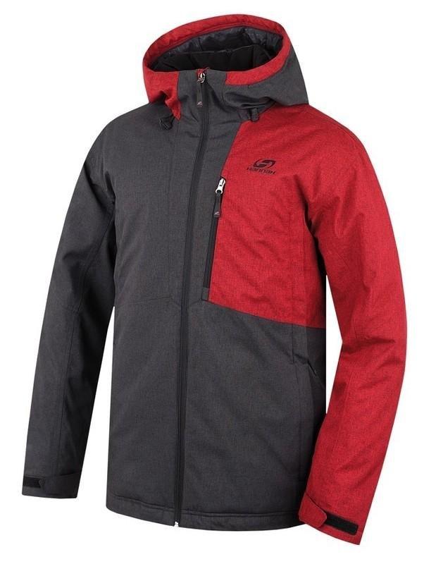Černo-červená pánská lyžařská bunda Hannah - velikost XXL