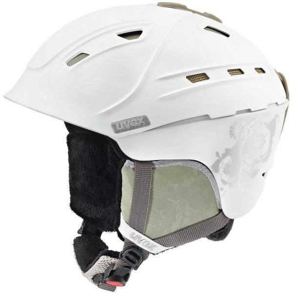 Bílá dámská lyžařská helma Uvex