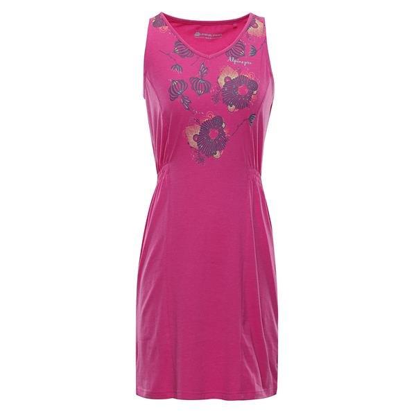 Růžové dámské šaty Alpine Pro