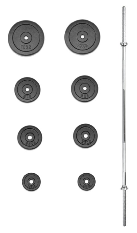 Činkový set - TRINFIT nakládací činka PREMIUM 45 kg kovová