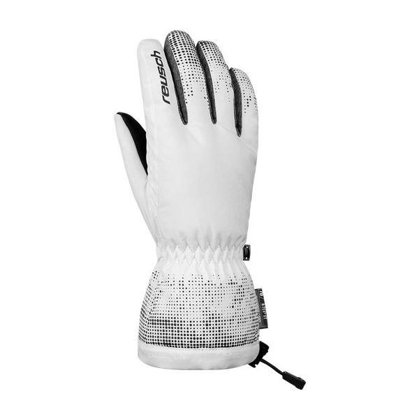 Bílé dámské lyžařské rukavice Reusch