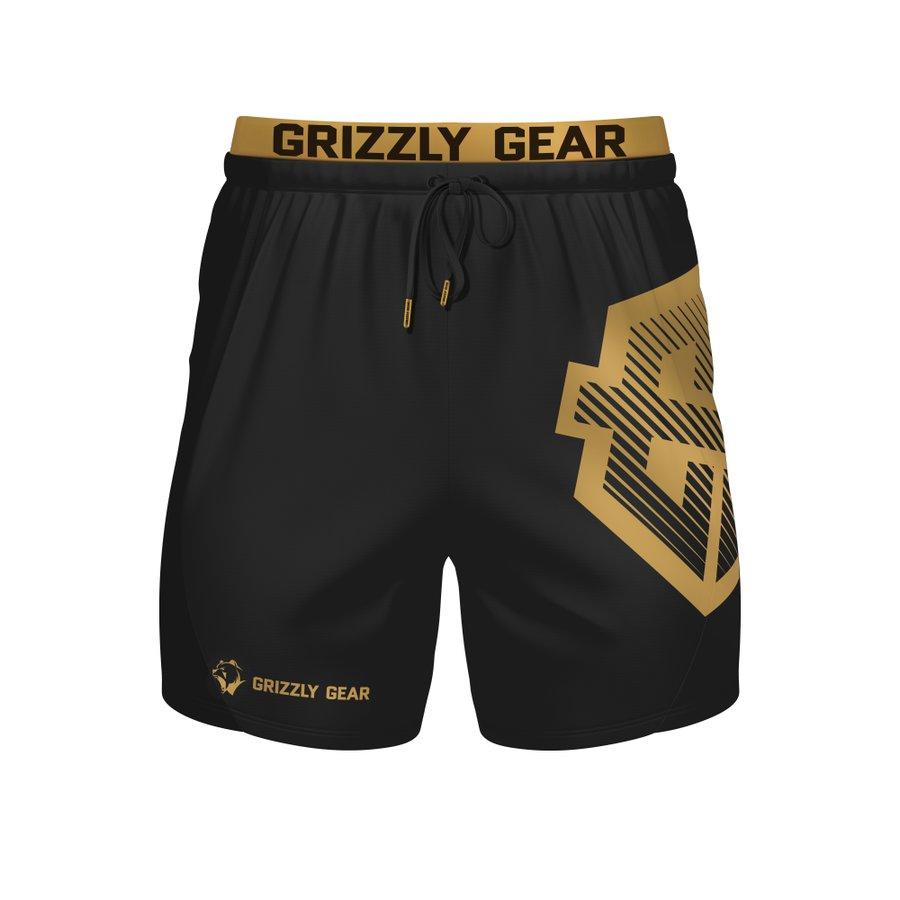 Černé pánské kraťasy Grizzly Gear