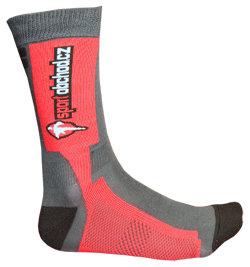 Červeno-šedé ponožky Skate II, ProfiVent