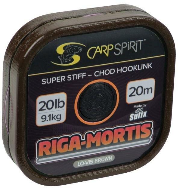 Návazcová šňůra - Carp Spirit návazcová šňůra Riga Mortis-Chod Hoolink Lo-Vis Barva: Camo hnědá, Nosnost: 25 lb
