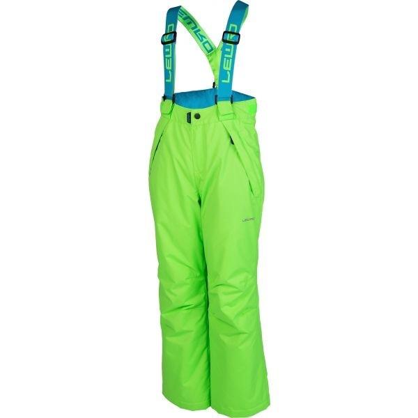Zelené dětské snowboardové kalhoty Lewro