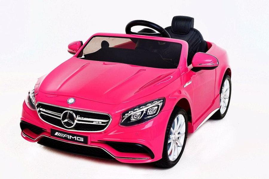 Růžové dětské elektrické autíčko Beneo
